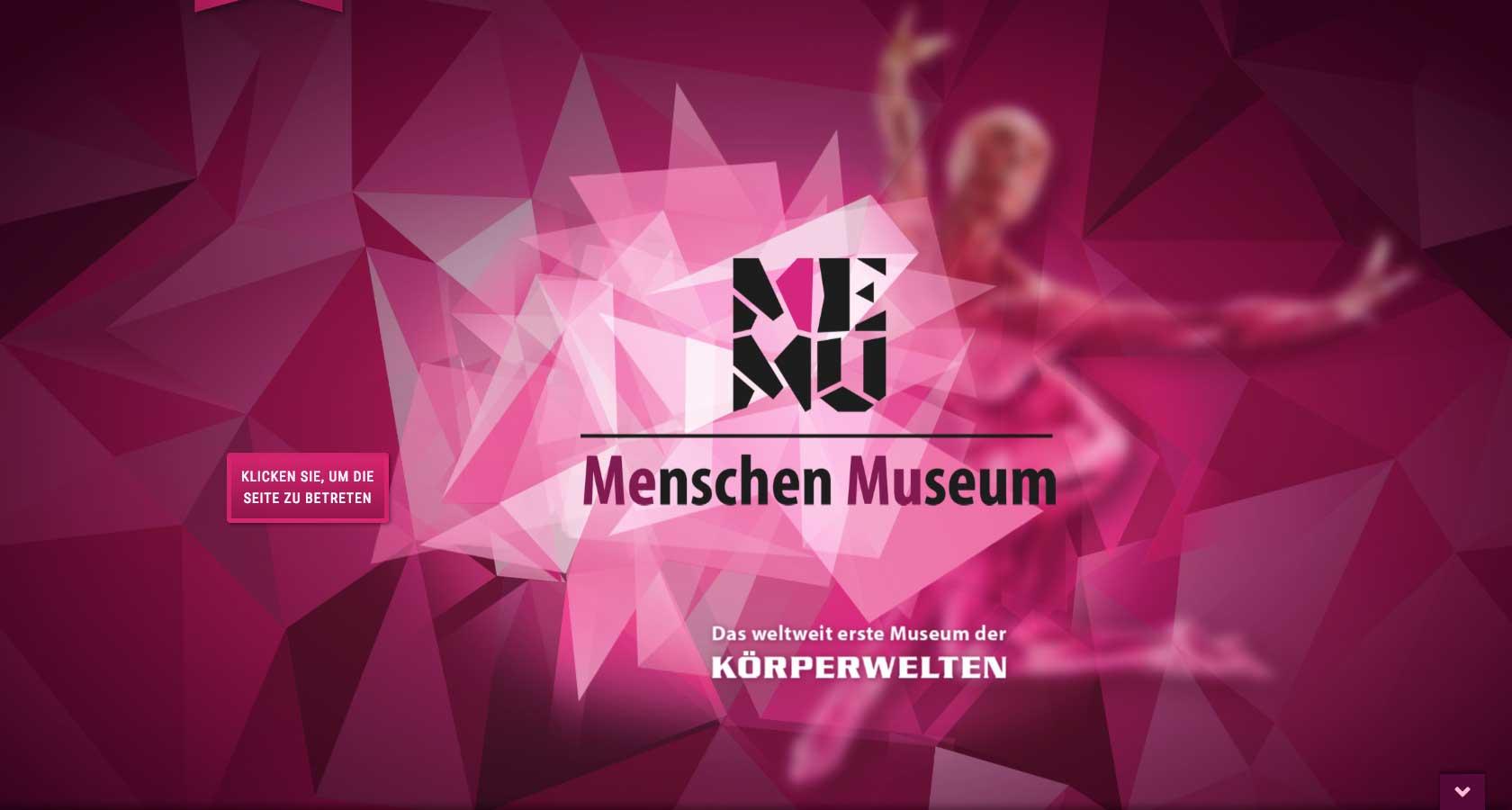 Screenshot der Startseite des Onlineshops Memu Berlin