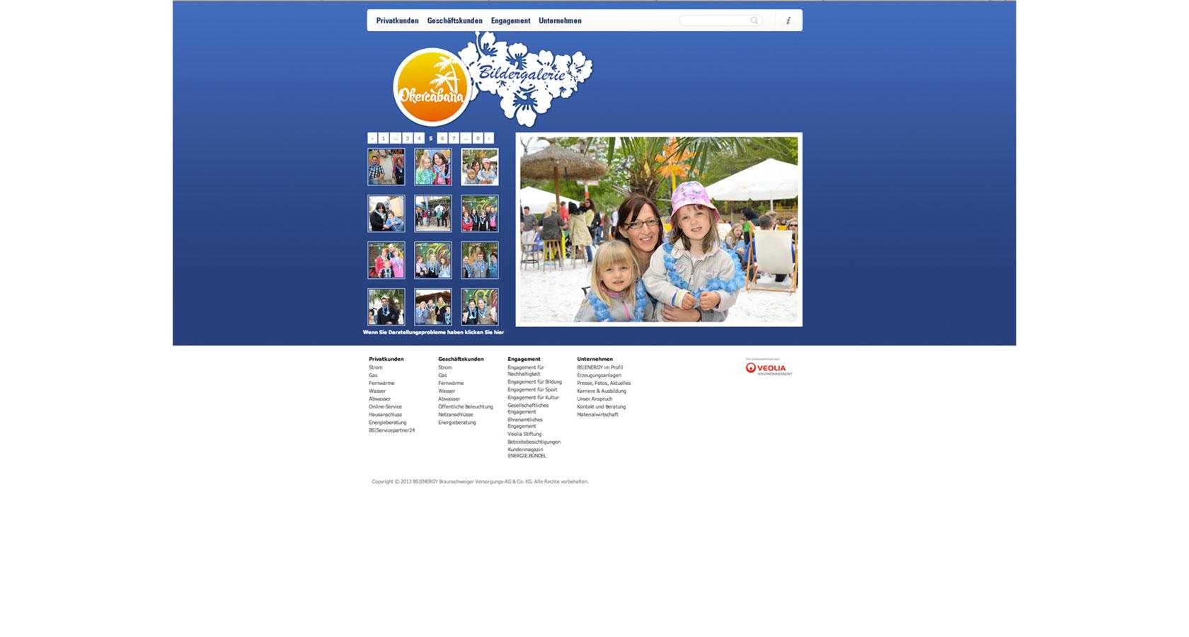 Screenshot der Bildergalerie auf der Website von BS|ENERGY