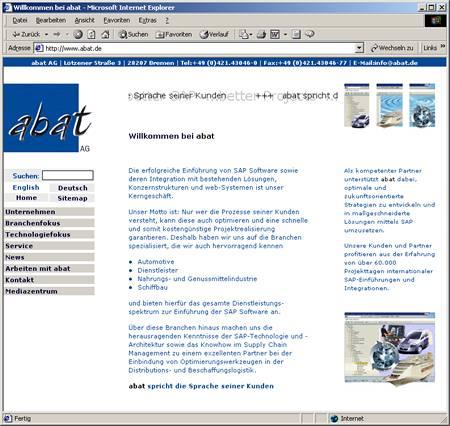 Screenshot abat AG Relaunch