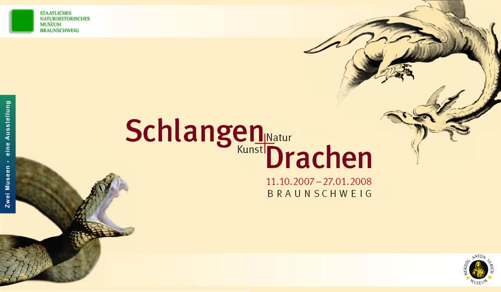 """Teaser für die Ausstellung """"Schlangen und Drachen. Kunst und Natur"""""""