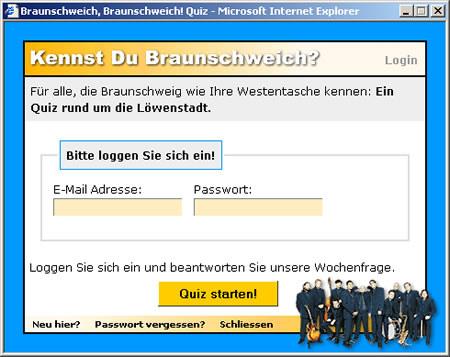 Screenshot Online-Quiz