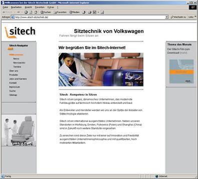 Screenshot 1 Sitech Internetauftritt