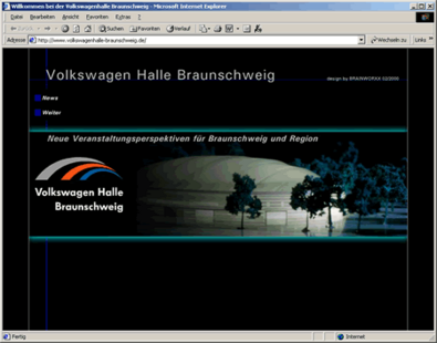 Screenshot 1 Internetauftritt