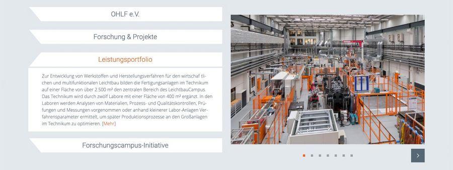 Screenshot der Bildergalerie der Open Hybrid LabFactory