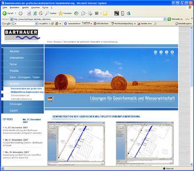 Screenshot 1 Relaunch Barthauer Software GmbH