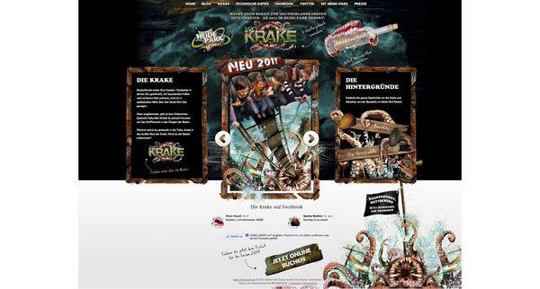 """Screenshot von der Website des Heide Park für die neue Attraktion """"Killerkrake"""""""