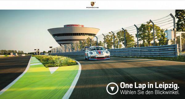 Screenshot der Streckenauswahl des Moduls Porsche One Lap