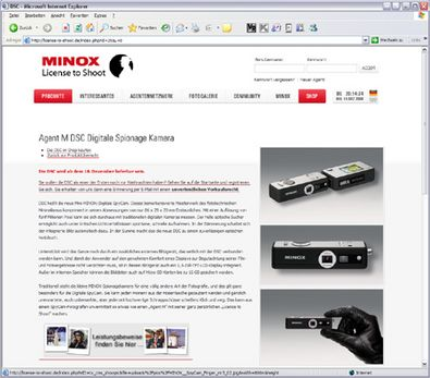 "Screenshot 2 ""License to Shoot"" Website"