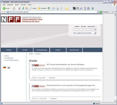 Screenshot 1 NFF Website