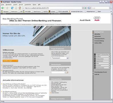 Screenshot 1 Audibank Banking-Portal