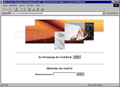 Screenshot 2 Audibank direct Terminalseite
