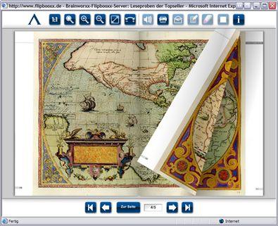 """Screenshot 2 """"Virtueller Lesesaal"""" Archiv Verlag"""