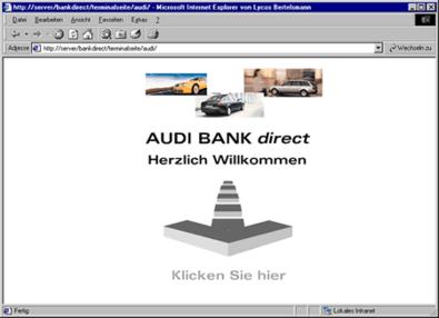 Screenshot 1 Audibank direct Terminalseite