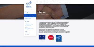 Screenshot der Website www.fachkraeftebuendnis-son.de