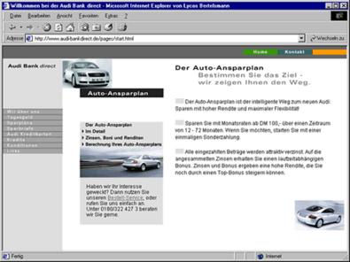 Screenshot 2 Audibank direct Internetauftritt