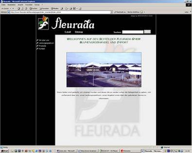 Screenshot 1 Internetauftritt Fleurada GmbH