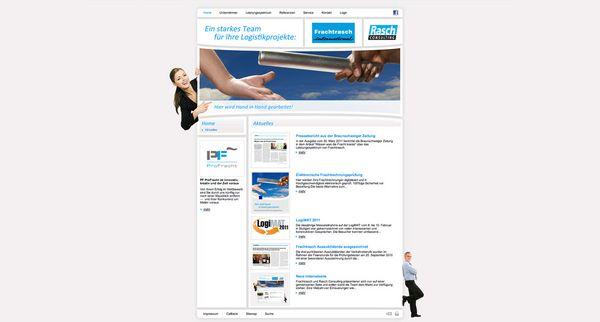 Scrrenshot der Startseite vom neuen Frauchtfrasch Internetauftritt