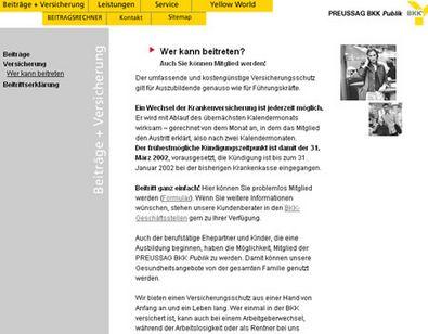 Screenshot 1 vom Relaunch der BKK Public