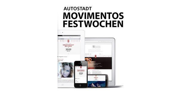 Bilder von Laptop, Smarthone und Tablet mit Abbildungen aus der mobilen Anwendung für Movimentos auf dem Bildschirm