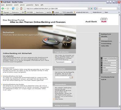 Screenshot 2 Audibank Banking-Portal