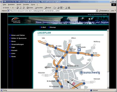 Screenshot 2 Internetauftritt