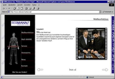 """Screenshot 1 Internetauftritt """"Rebmann Fashionstyle"""""""
