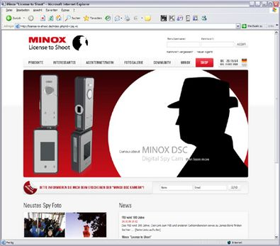 "Screenshot 1 ""License to Shoot"" Website"