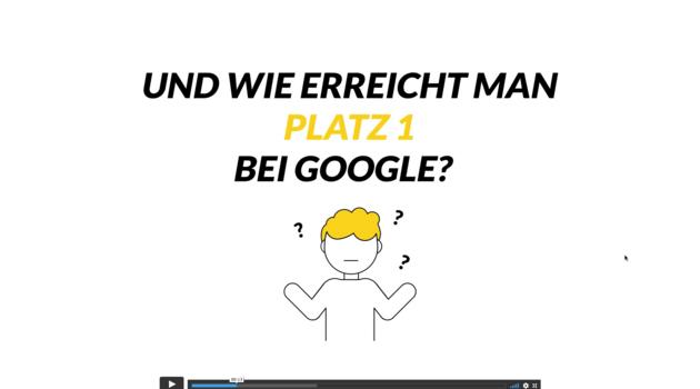 Screenshot eines Erklärvideos zum Thema Google
