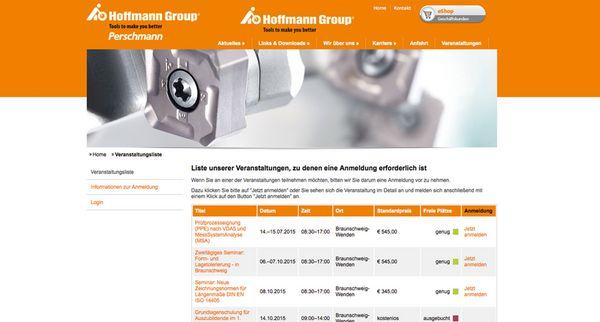 Listenansicht der Perschmann Typo3-Seminar-Extension