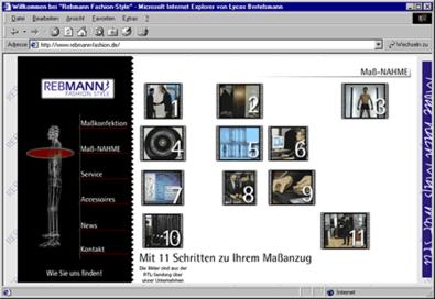 """Screenshot 2 Internetauftritt """"Rebmann Fashionstyle"""""""