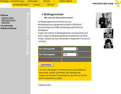 Screenshot 2 vom Relaunch der BKK Public
