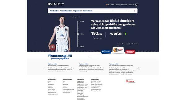 Screenshot vom Teaser für das Online-Gewinnspiel von BS|ENERGY