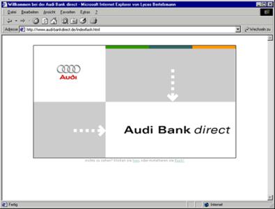Screenshot 1 Audibank direct Internetauftritt