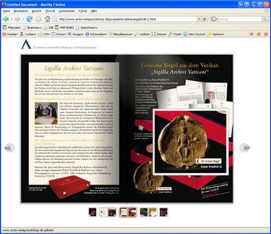 "Screenshot 4 ""Blätterbarer Katalog"" Archiv Verlag"
