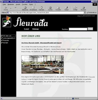 Screenshot 2 Internetauftritt Fleurada GmbH