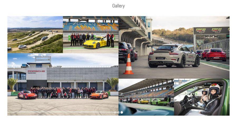 Screenshot der Galerie im Porsche Experience Center