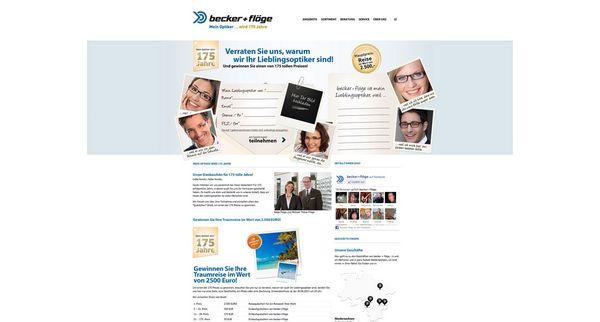 Screenshot vom Teaser für das Online-Gewinnspiel von becker + flöge